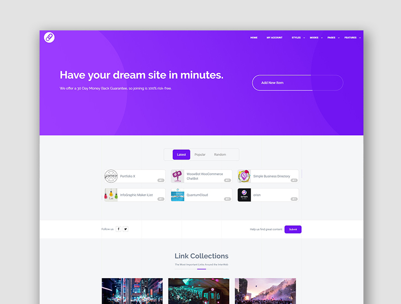 Simple Link Directory Theme - WordPress by QuantumCloud