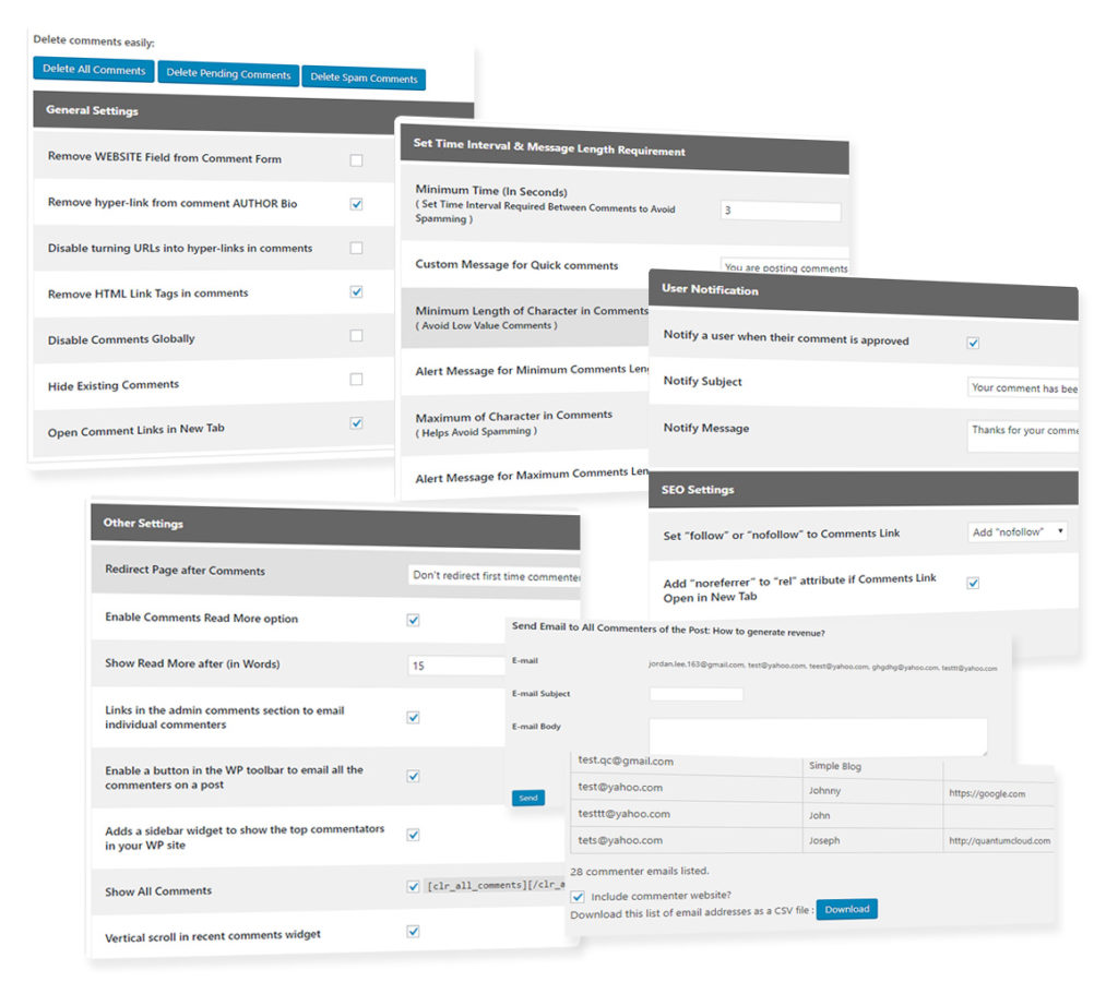 Comment Tools Pro with mailing list opt-in, Sentiment