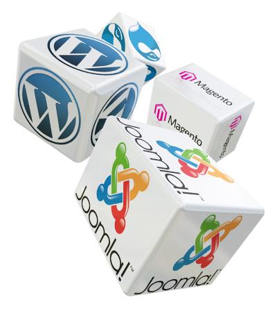 Open source CMS - WordPress, Joomla!, Magento
