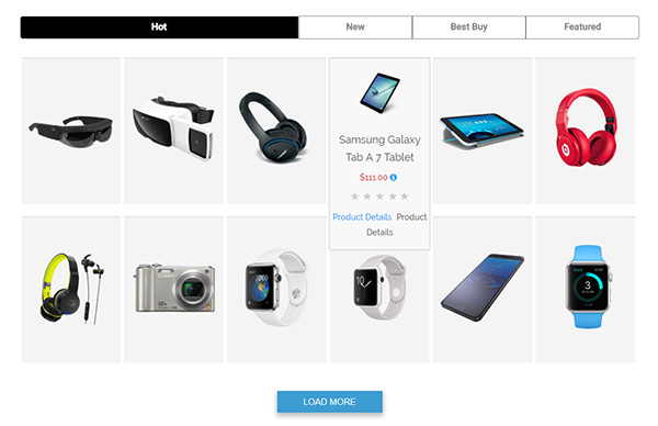 WooCommerce Tabbed Category Product Listing - Pro - 9