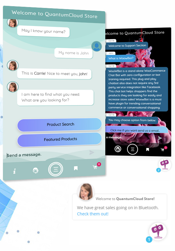 ChatBot for WooCommerce - Retargeting, Exit Intent, Abandoned Cart, Facebook Live Chat - WoowBot - 9